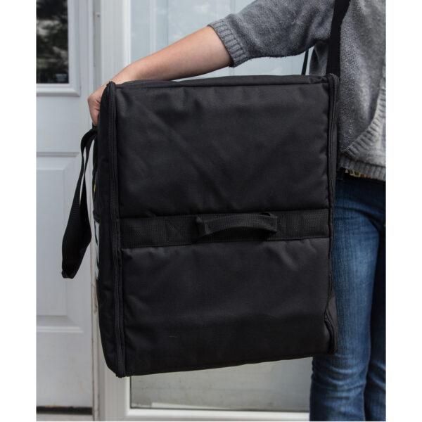 Double-capacity medium pizza bag