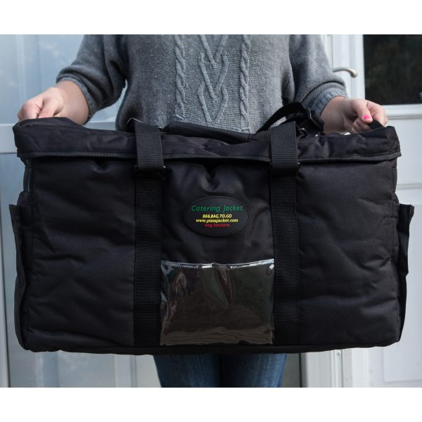 Person holding catering bag
