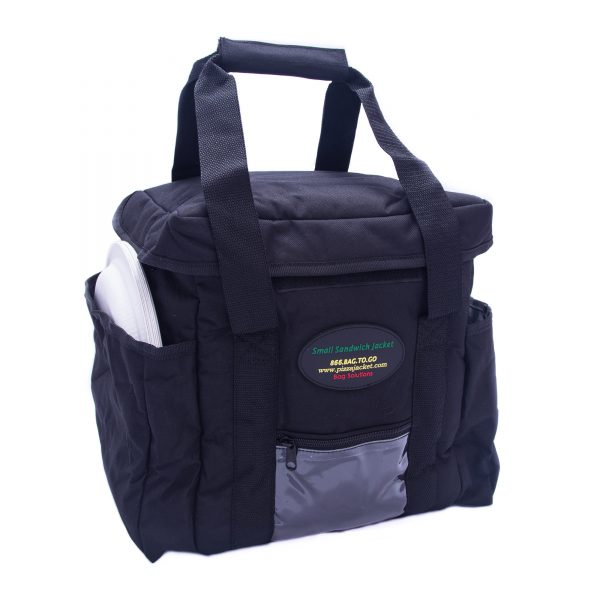 Small sandwich delivery bag with stored plates